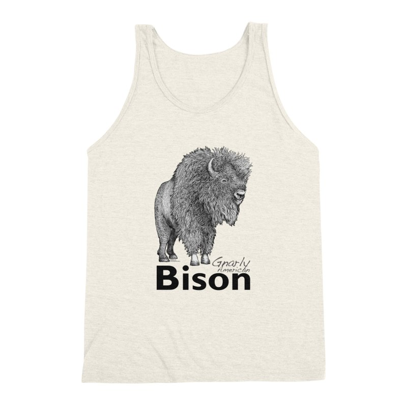 Bison Men's Triblend Tank by dotsofpaint threads