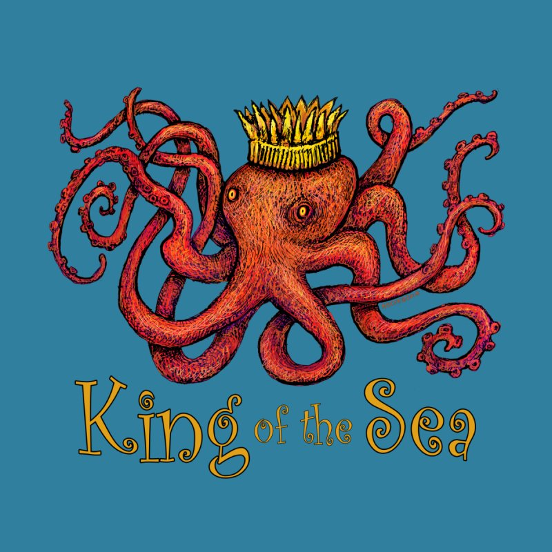 Red Octopus - King of the Sea! by dotsofpaint threads