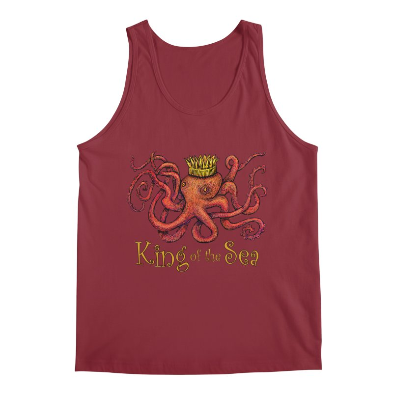 Red Octopus - King of the Sea! Men's Tank by dotsofpaint threads