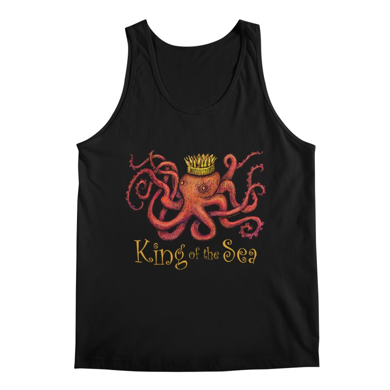 Red Octopus - King of the Sea! Men's Regular Tank by dotsofpaint threads