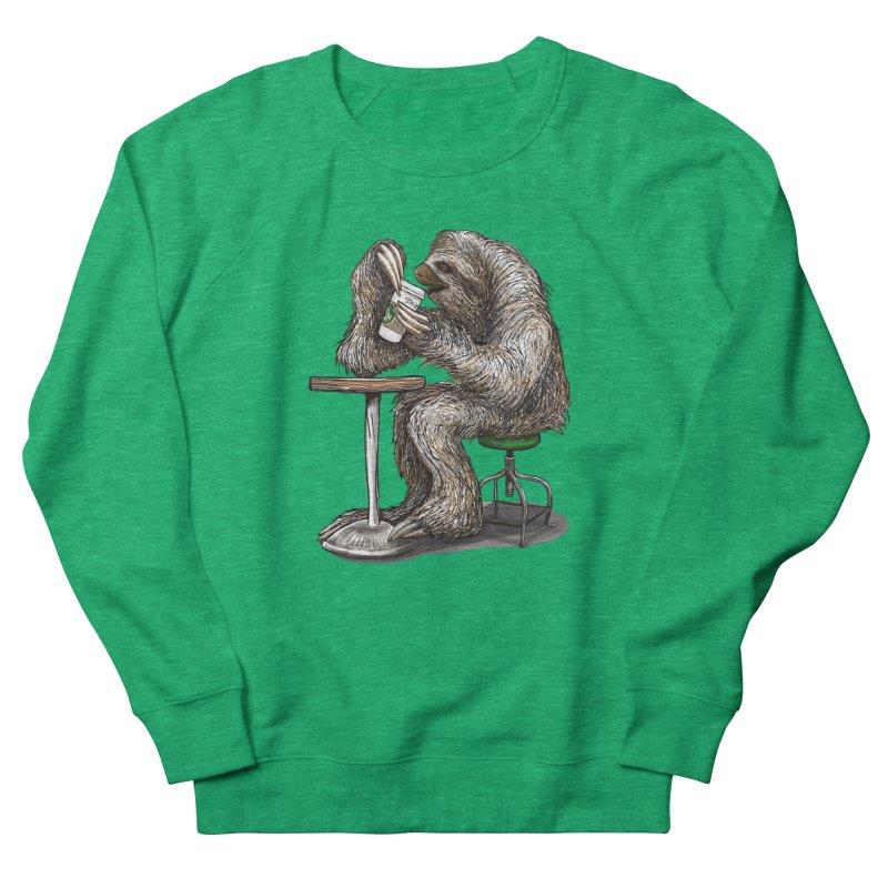 Steve the Sloth on his Coffee Break Women's Sweatshirt by dotsofpaint threads