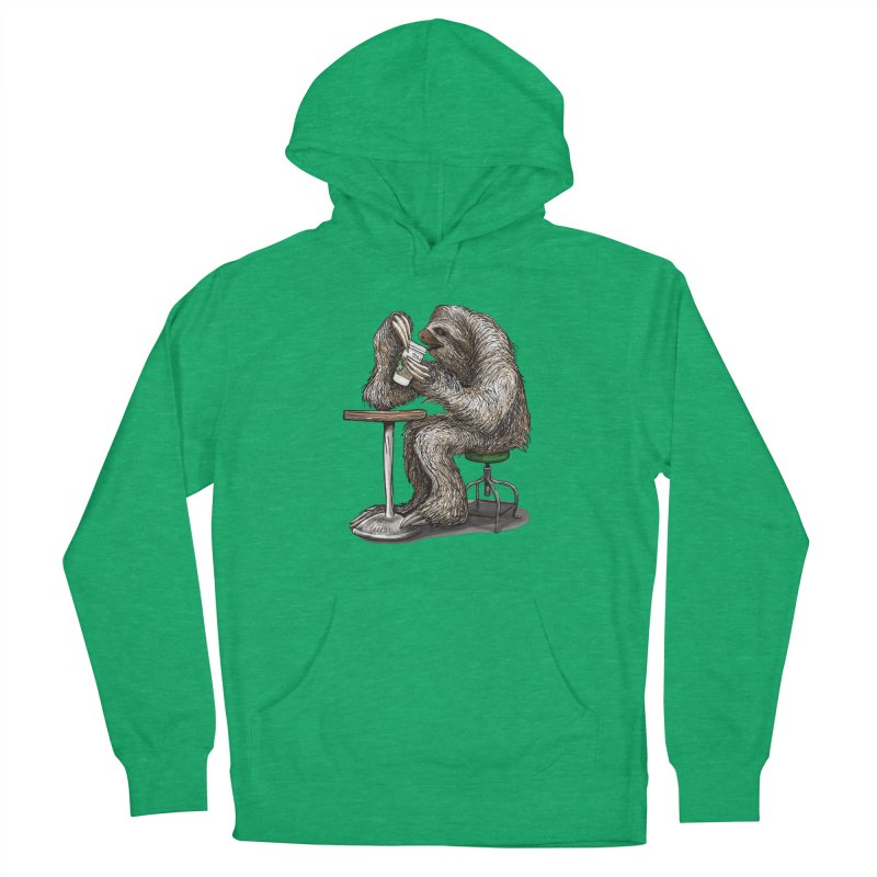 Steve the Sloth on his Coffee Break Women's Pullover Hoody by dotsofpaint threads