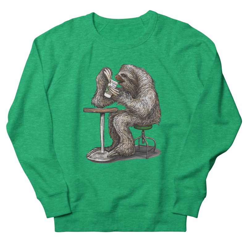 Steve the Sloth on his Coffee Break Women's Sweatshirt by dotsofpaint threads