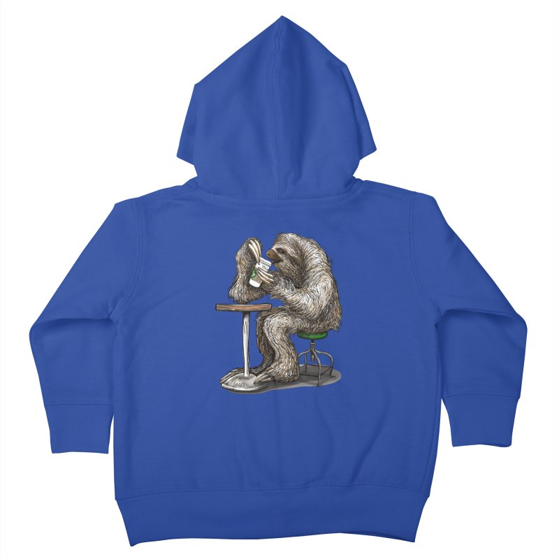 Steve the Sloth on his Coffee Break Kids Toddler Zip-Up Hoody by dotsofpaint threads