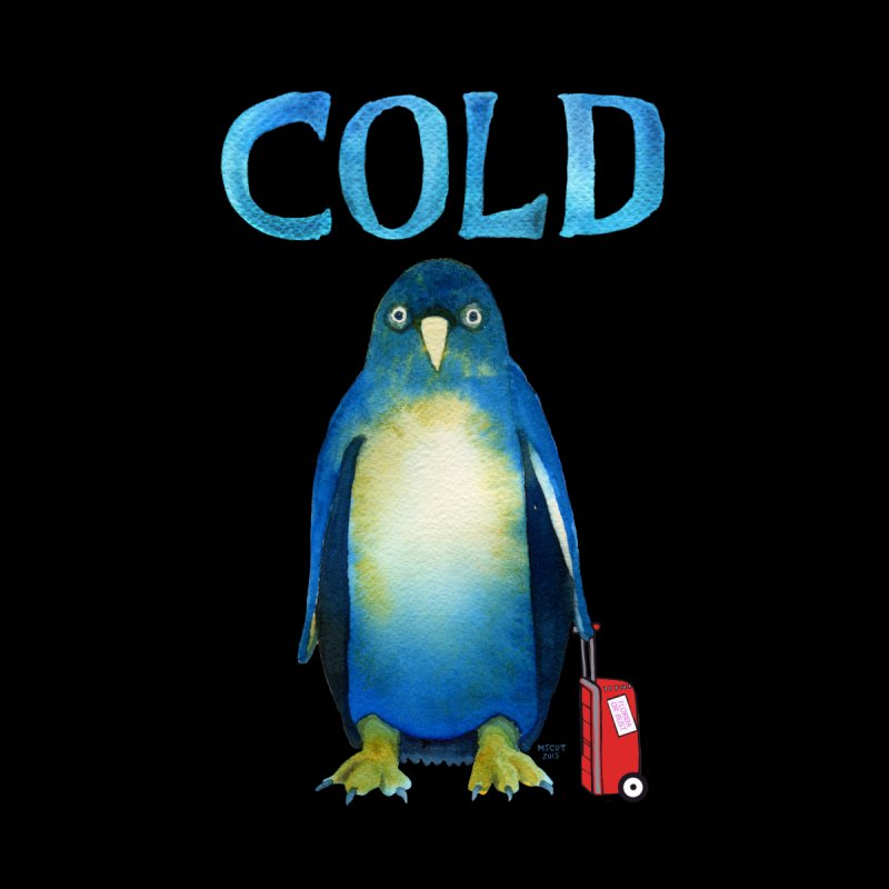 COLD AF PENGUIN Men's T-Shirt by dotsofpaint threads