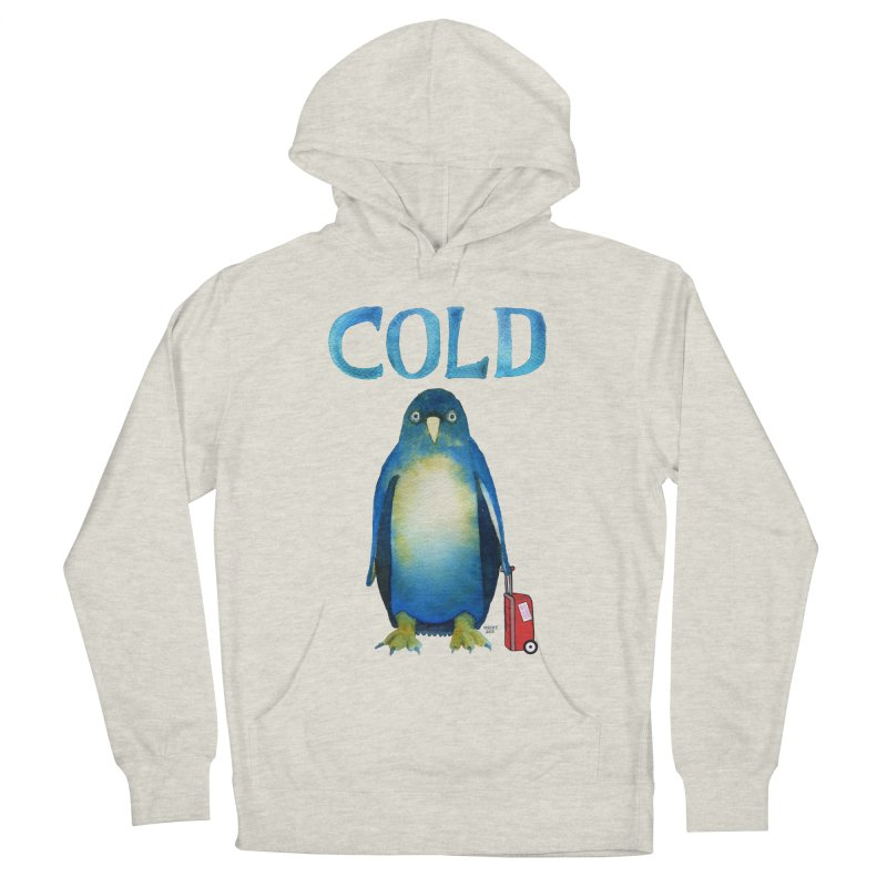 COLD AF PENGUIN Women's French Terry Pullover Hoody by dotsofpaint threads