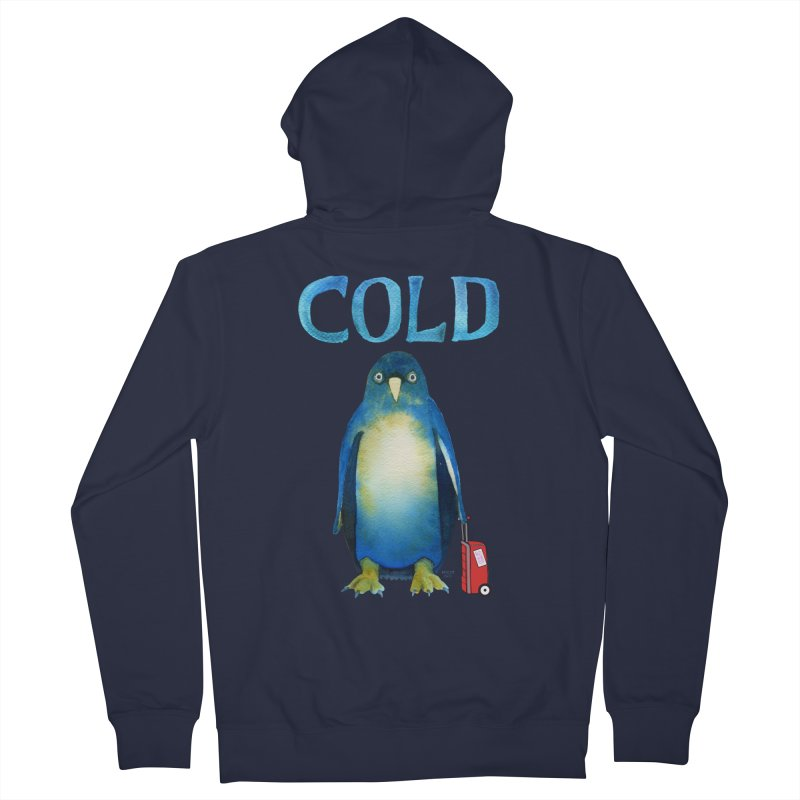 COLD AF PENGUIN Women's Zip-Up Hoody by dotsofpaint threads