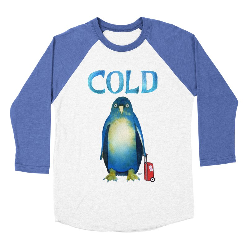 COLD AF PENGUIN Women's Baseball Triblend Longsleeve T-Shirt by dotsofpaint threads