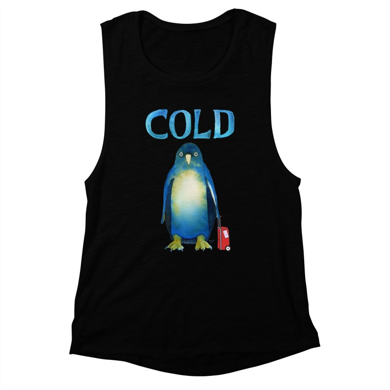 COLD AF PENGUIN Women's Tank by dotsofpaint threads