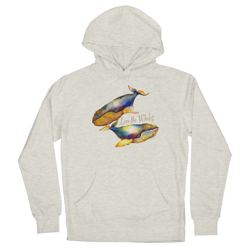 Love the Whales Women's Pullover Hoody by dotsofpaint threads