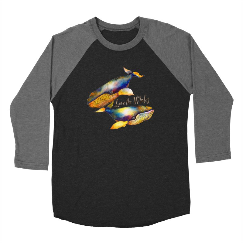Love the Whales Women's Longsleeve T-Shirt by dotsofpaint threads