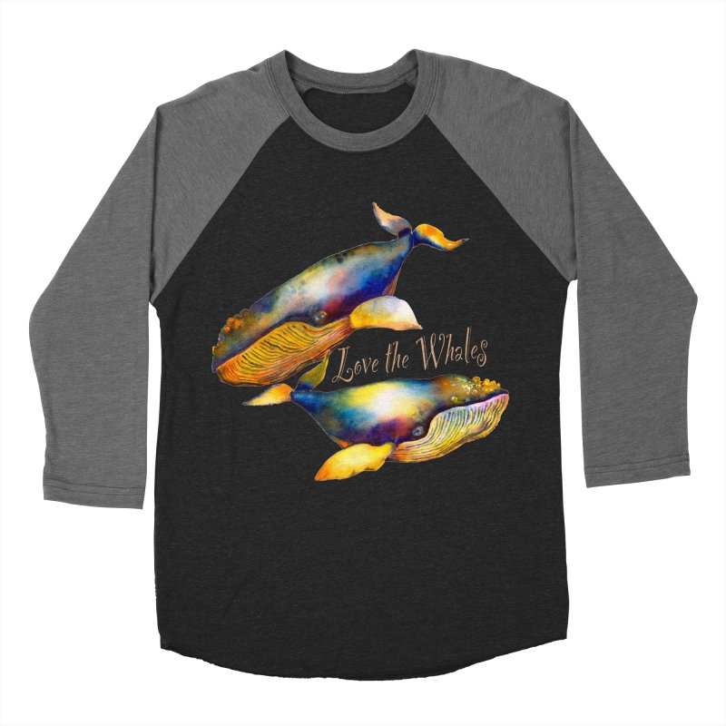 Love the Whales Women's Baseball Triblend Longsleeve T-Shirt by dotsofpaint threads