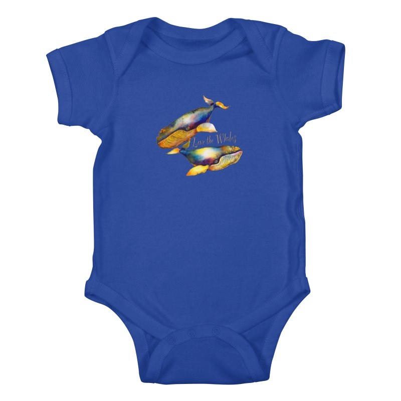 Love the Whales Kids Baby Bodysuit by dotsofpaint threads