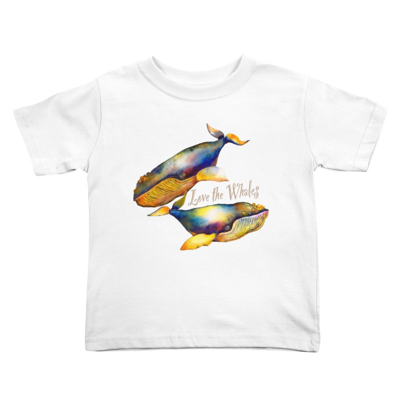 Love the Whales Kids Toddler T-Shirt by dotsofpaint threads