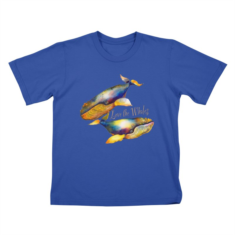 Love the Whales Kids T-Shirt by dotsofpaint threads