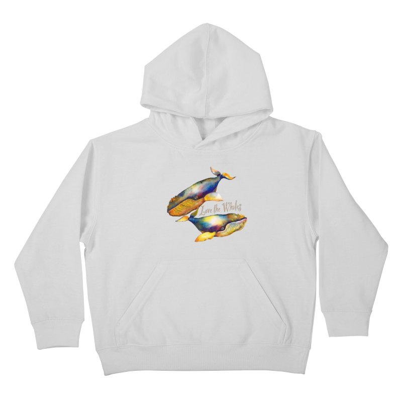 Love the Whales Kids Pullover Hoody by dotsofpaint threads