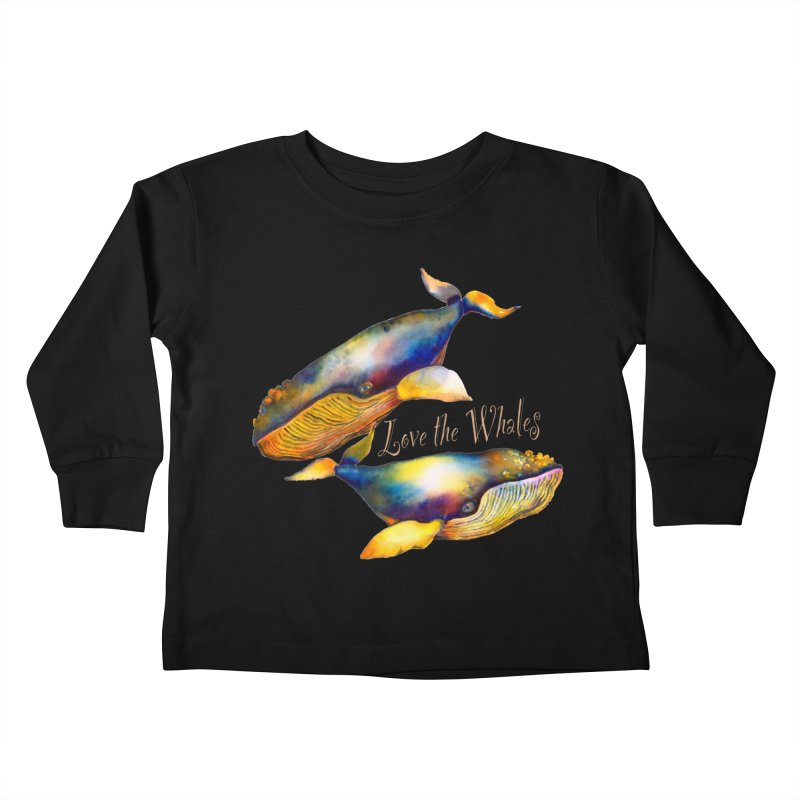 Love the Whales Kids Toddler Longsleeve T-Shirt by dotsofpaint threads