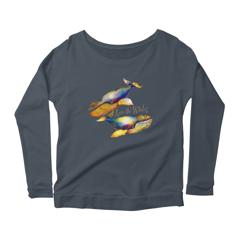 Love the Whales Women's Longsleeve T-Shirt by dotsofpaint threads
