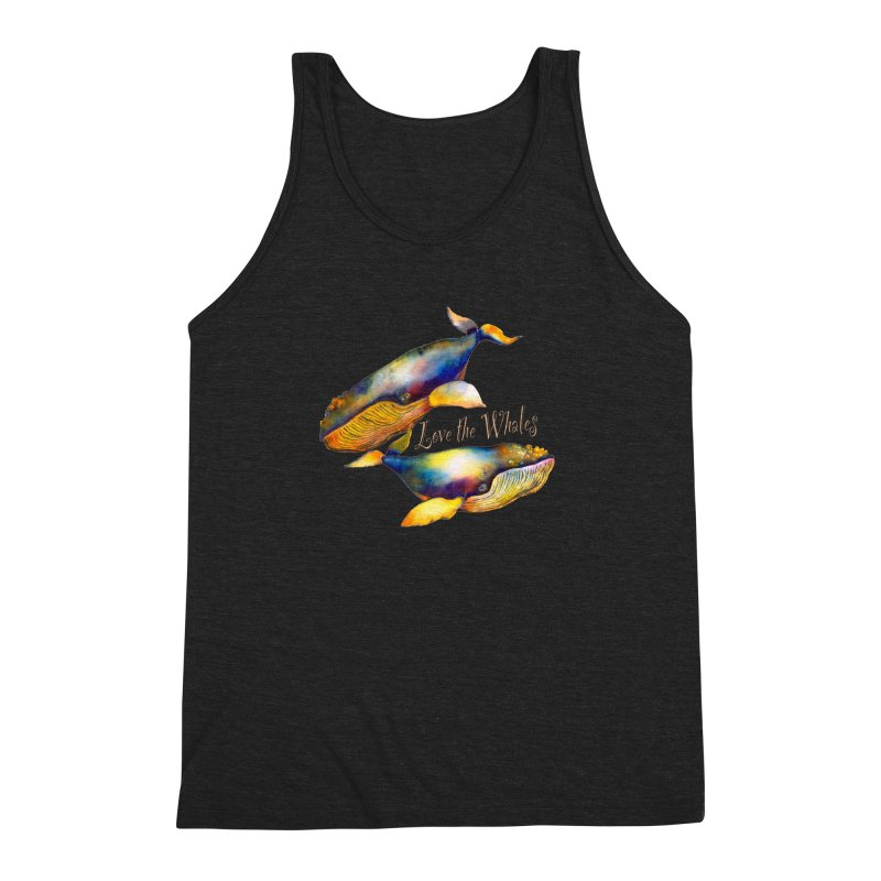 Love the Whales Men's Triblend Tank by dotsofpaint threads