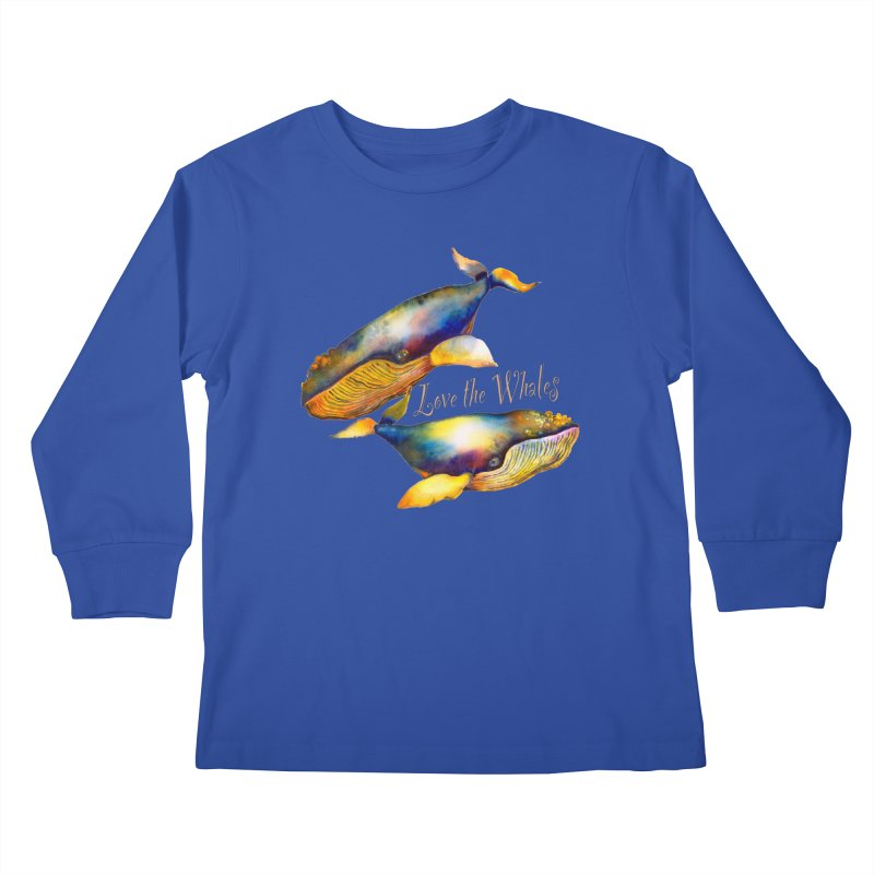 Love the Whales Kids Longsleeve T-Shirt by dotsofpaint threads