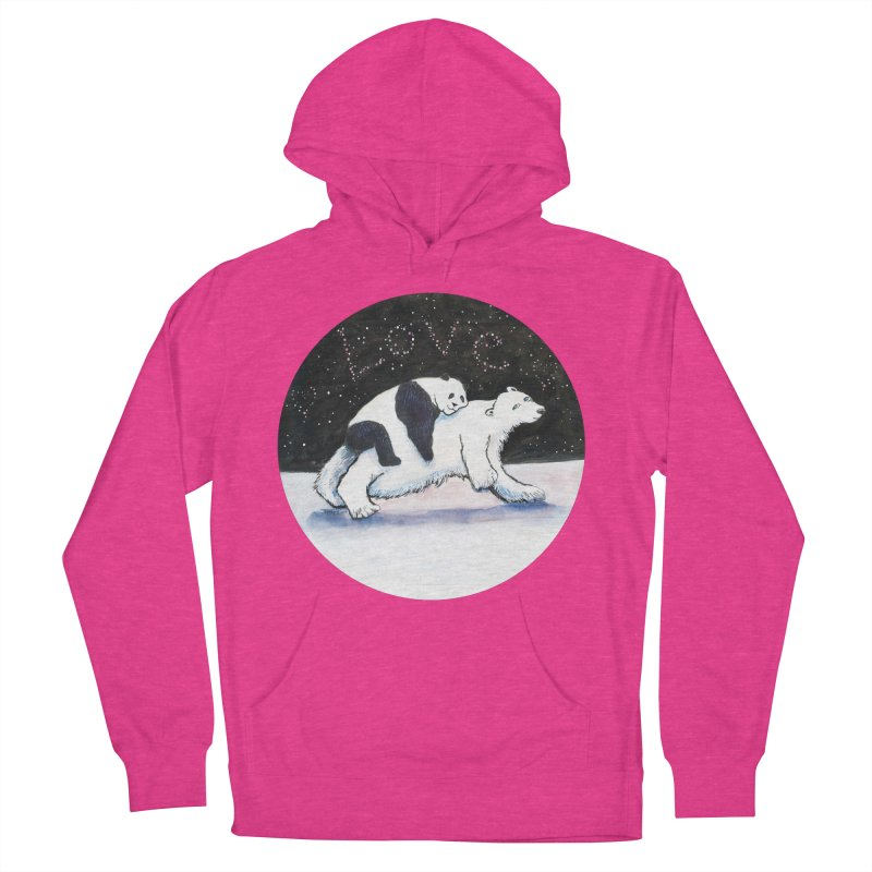 Bear Hugs Women's French Terry Pullover Hoody by dotsofpaint threads