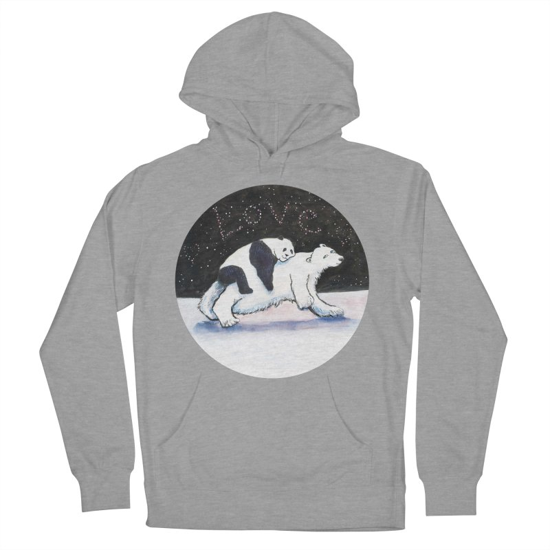 Bear Hugs Men's French Terry Pullover Hoody by dotsofpaint threads
