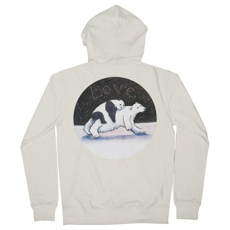 Bear Hugs Men's French Terry Zip-Up Hoody by dotsofpaint threads