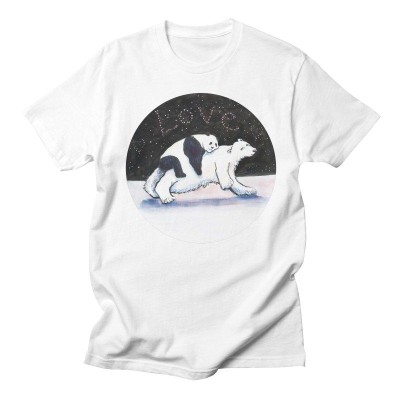 Bear Hugs Men's T-Shirt by dotsofpaint threads