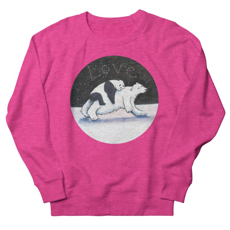 Bear Hugs Women's French Terry Sweatshirt by dotsofpaint threads