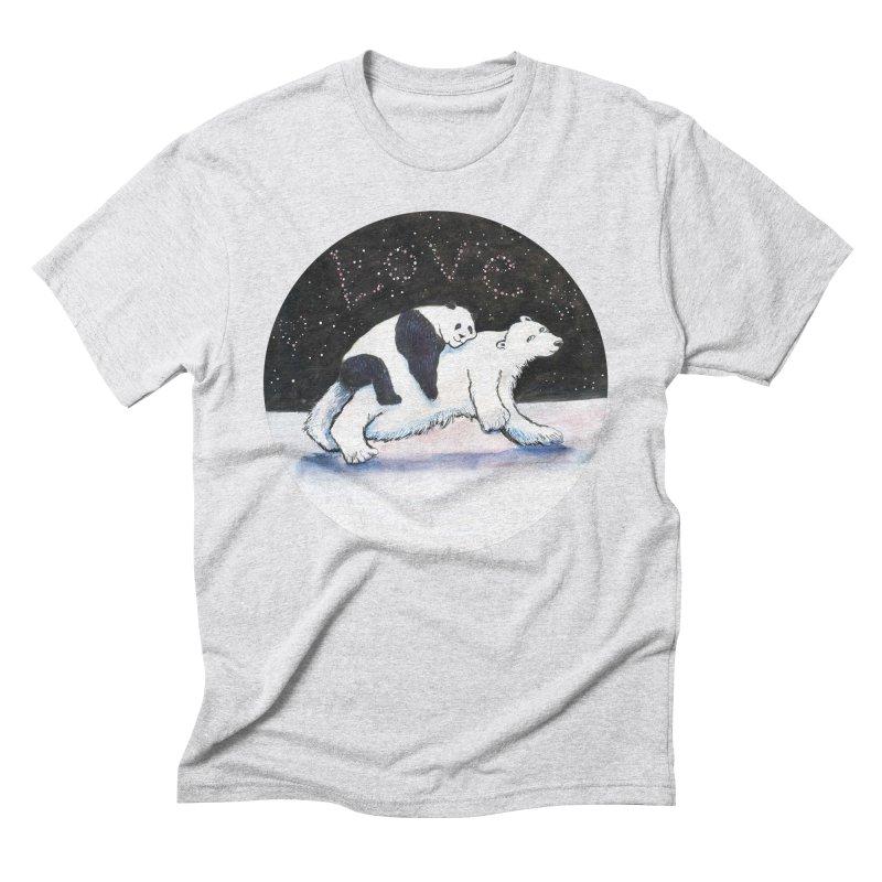 Bear Hugs Men's Triblend T-Shirt by dotsofpaint threads