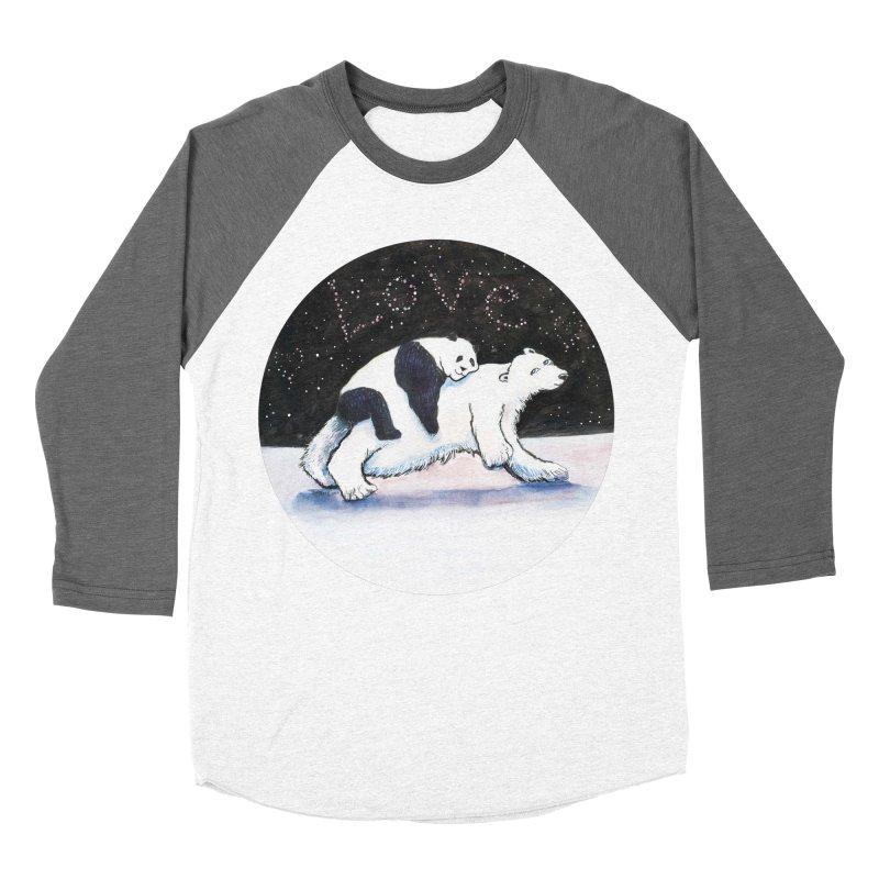 Bear Hugs Women's Baseball Triblend Longsleeve T-Shirt by dotsofpaint threads