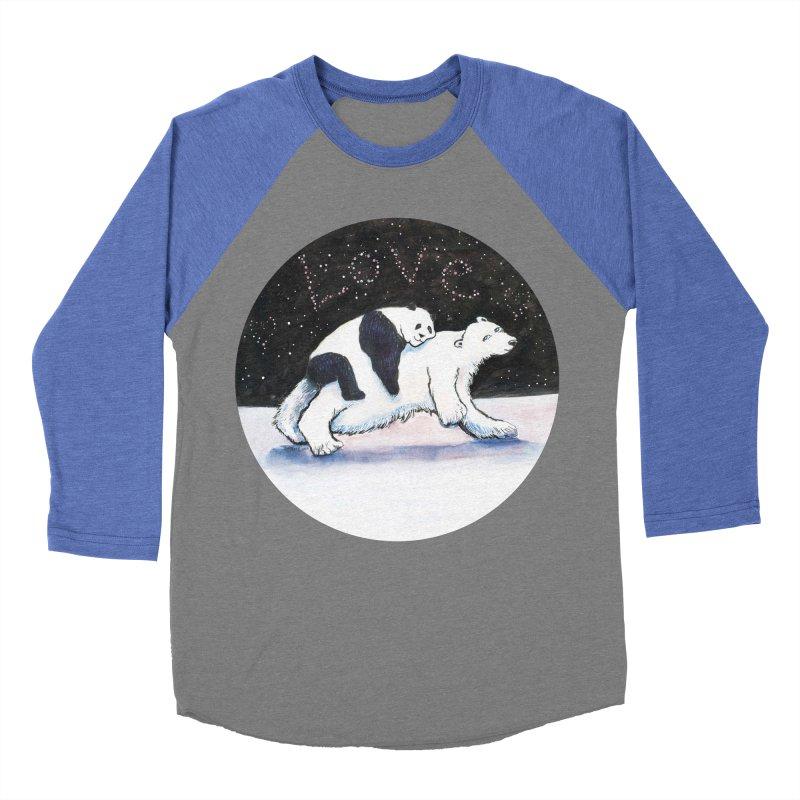 Bear Hugs Men's Baseball Triblend Longsleeve T-Shirt by dotsofpaint threads