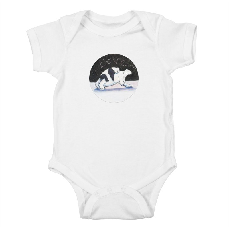 Bear Hugs Kids Baby Bodysuit by dotsofpaint threads