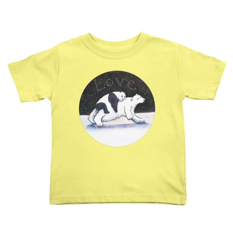 Bear Hugs Kids Toddler T-Shirt by dotsofpaint threads