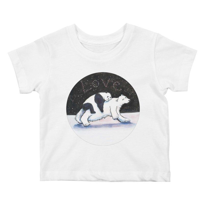 Bear Hugs Kids Baby T-Shirt by dotsofpaint threads