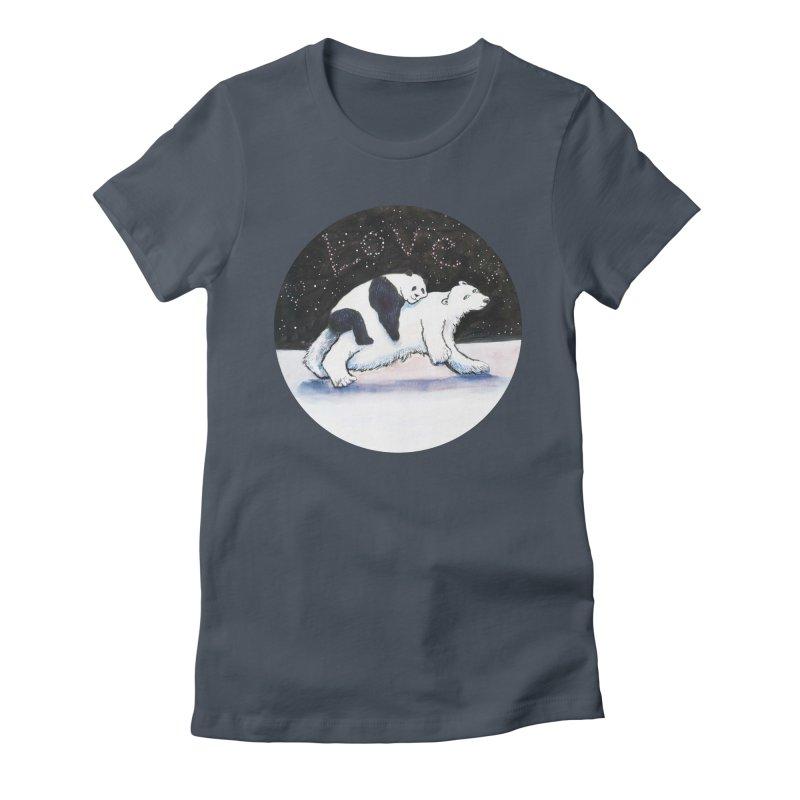 Bear Hugs Women's T-Shirt by dotsofpaint threads