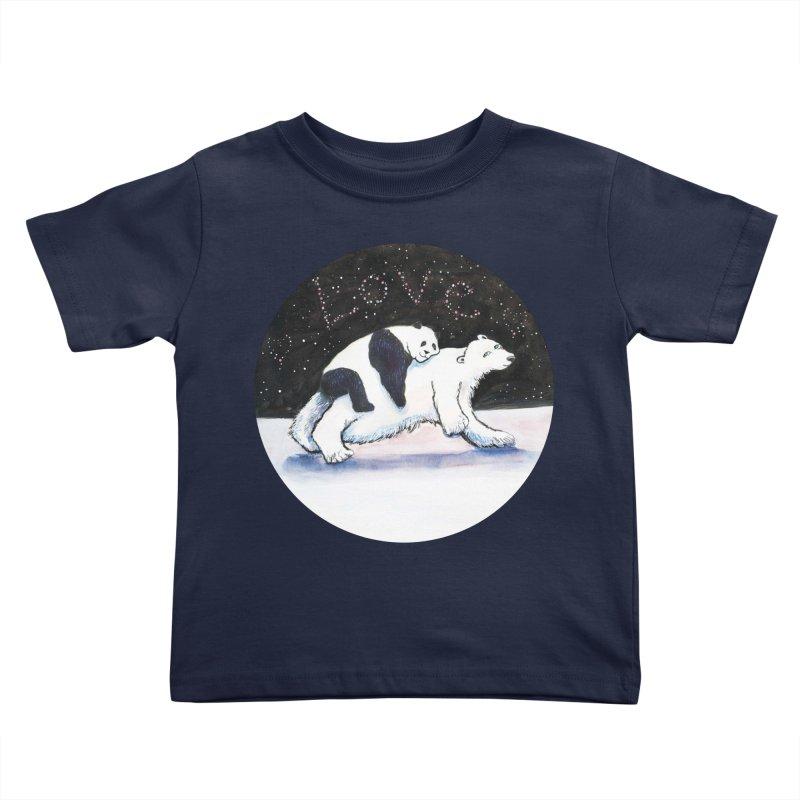 Bear Hugs Kids Toddler T-Shirt by dotsofpaint threads