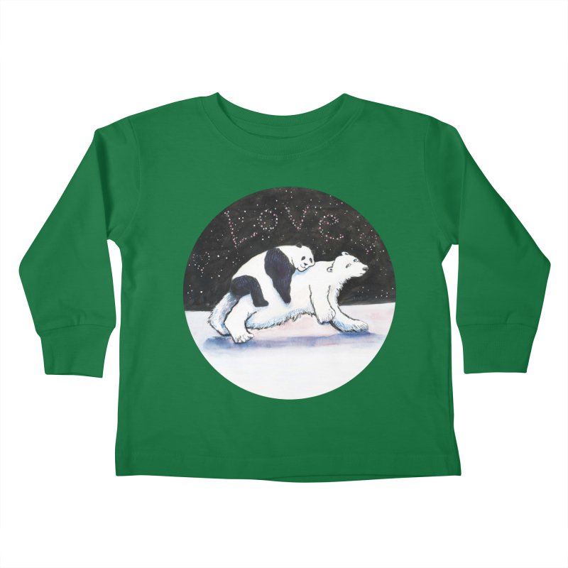 Bear Hugs Kids Toddler Longsleeve T-Shirt by dotsofpaint threads