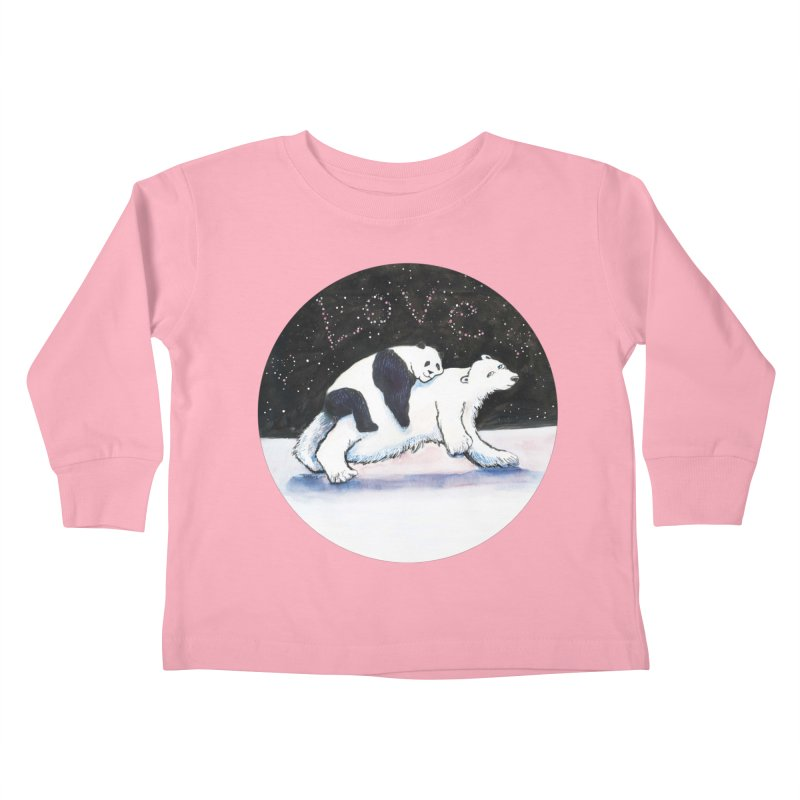 Bear Hugs Kids Toddler Longsleeve T-Shirt by dotsofpaint threads