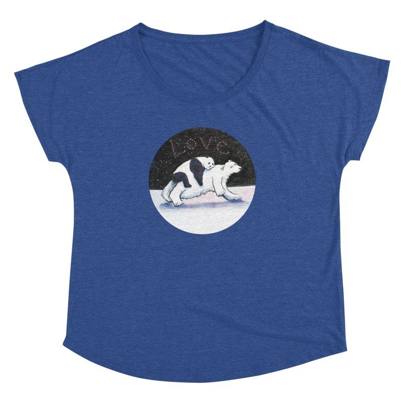 Bear Hugs Women's Dolman Scoop Neck by dotsofpaint threads