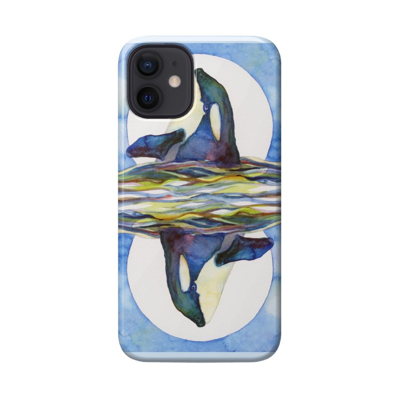 Orca in the Waves Seeing Double Accessories Phone Case by dotsofpaint threads
