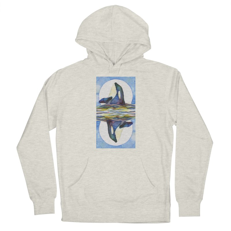 Orca in the Waves Seeing Double Men's Pullover Hoody by dotsofpaint threads