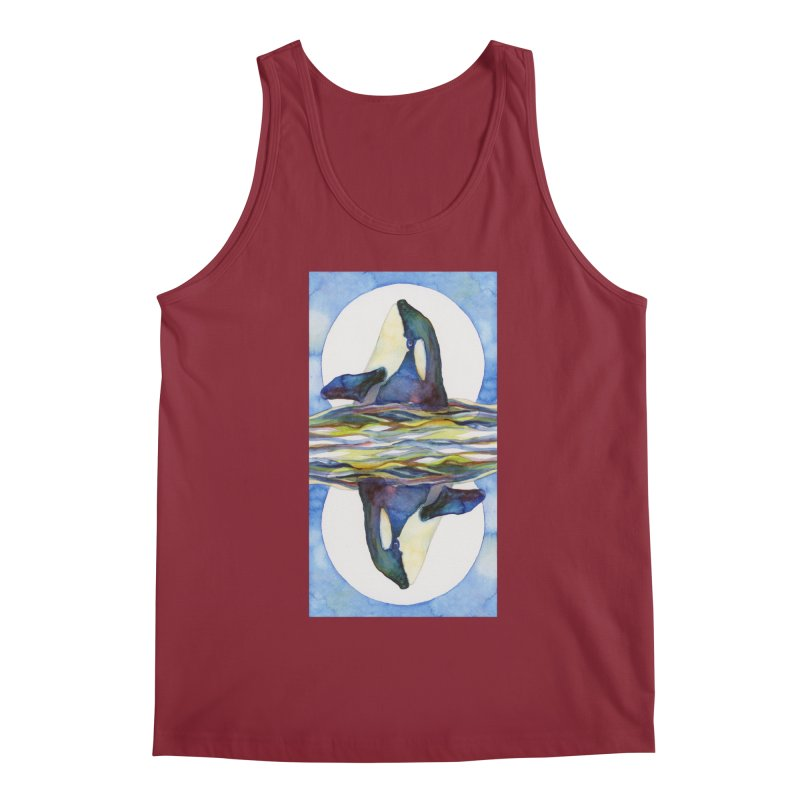 Orca in the Waves Seeing Double Men's Tank by dotsofpaint threads