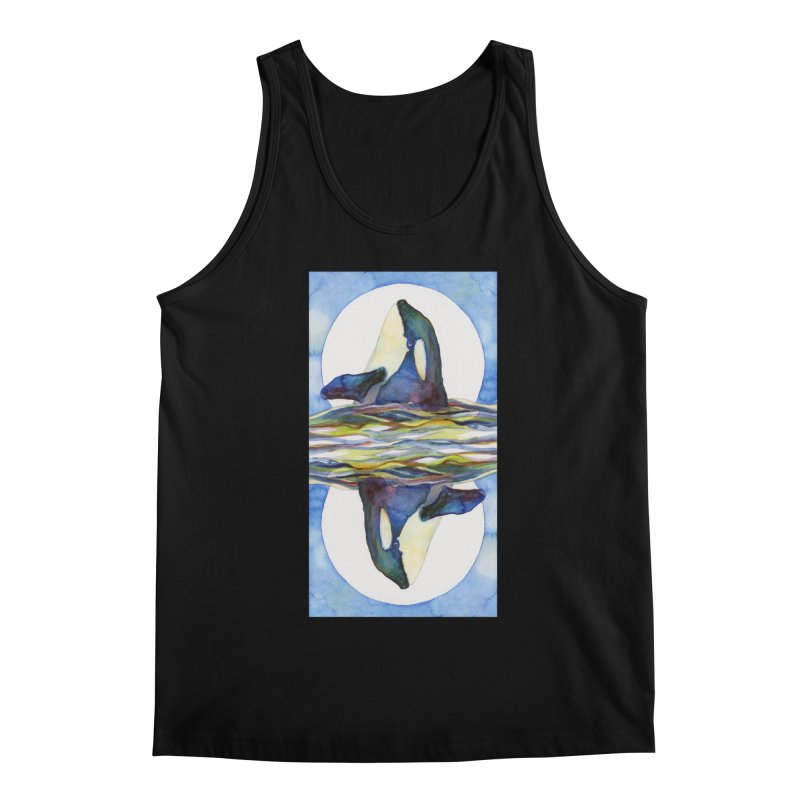 Orca in the Waves Seeing Double Men's Regular Tank by dotsofpaint threads