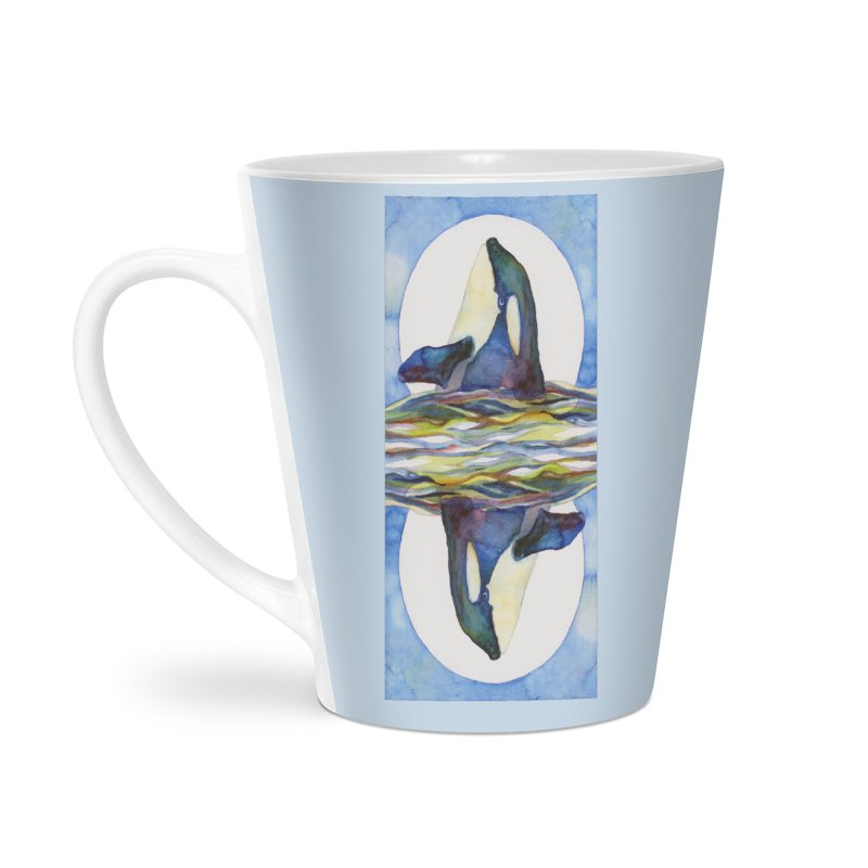 Orca in the Waves Seeing Double Accessories Latte Mug by dotsofpaint threads