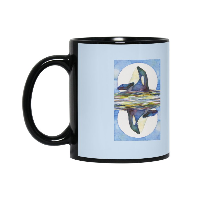 Orca in the Waves Seeing Double Accessories Mug by dotsofpaint threads