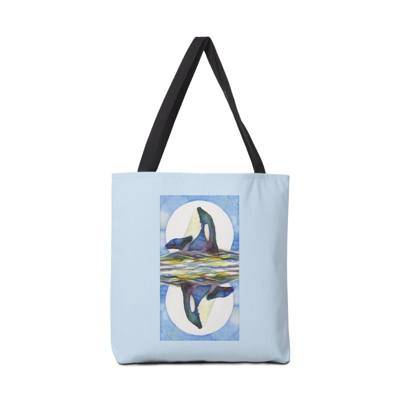 Orca in the Waves Seeing Double Accessories Bag by dotsofpaint threads