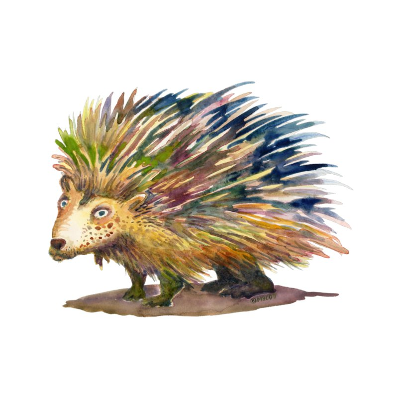 Porcupine Pete by dotsofpaint threads