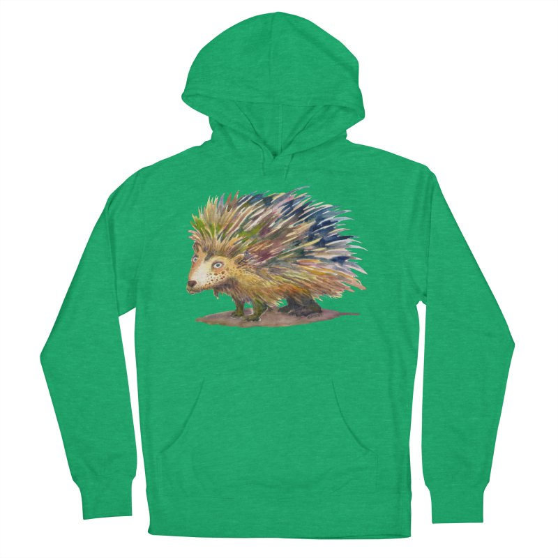 Porcupine Pete Men's French Terry Pullover Hoody by dotsofpaint threads