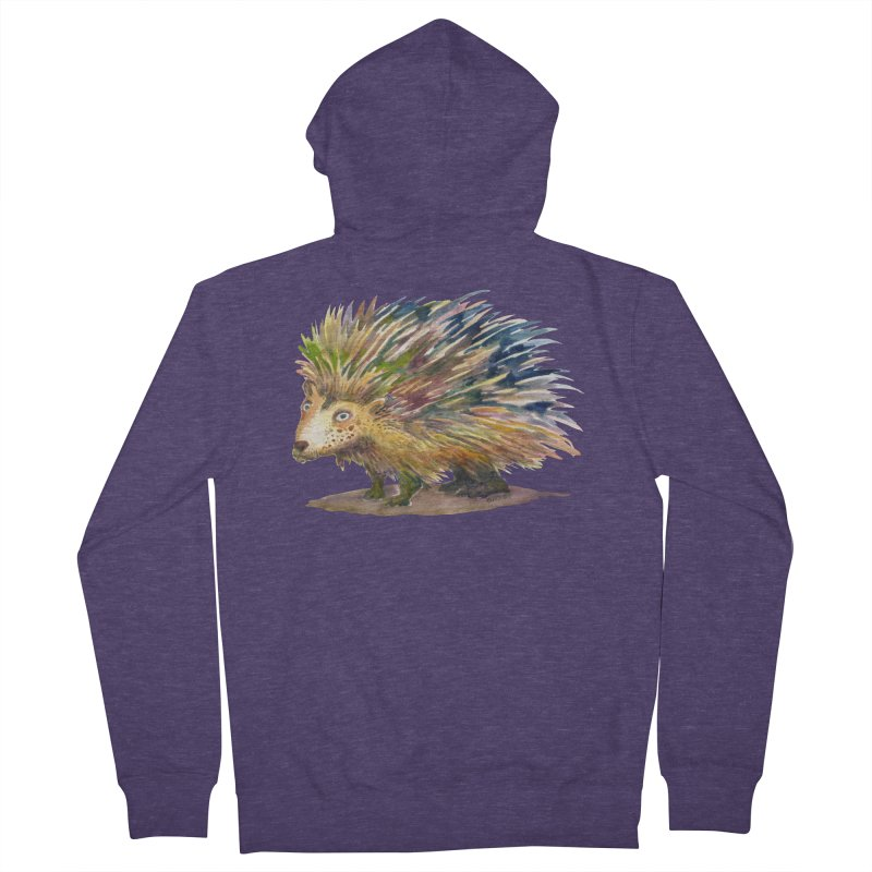 Porcupine Pete Men's French Terry Zip-Up Hoody by dotsofpaint threads